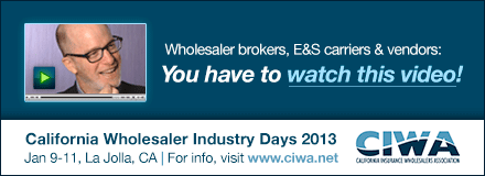 Sponsored by: CIWA. Wholesale brokers, E and S carriers and vendors: You have to watch this video! Click here for more information.