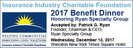 Sponsored by: IICF. 2017 Benefit Dinner Honoring Ryan Specialty Group. Wednesday, December 12, 2017. Click here for more information.