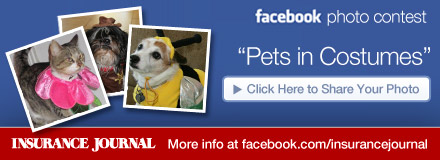 Sponsored by: Insurance Journal. Facebook Photo Contest: Pets in Costumes. Click Here to Share Your Photo.