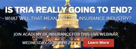 WEDNESDAY - TRIA - Will it end? - Join Academy of Insurance for this live webinar