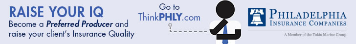 Sponsored by: Philadelphia Insurance Companies. Raise Your IQ. Become a Preferred Producer and raise your client's Insurance Quality. Click here for more information.