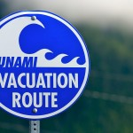 tsunami evaculation route