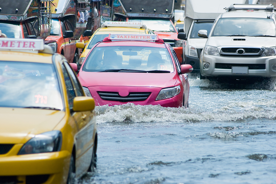 flooded streets in bangkok thailand