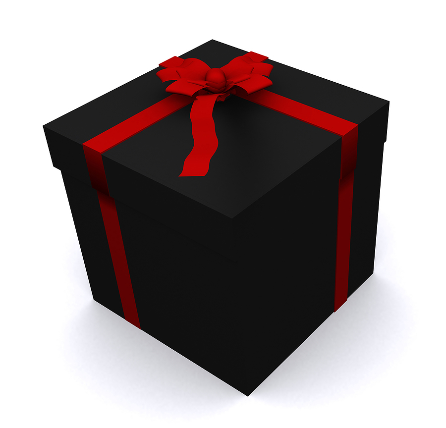 wrapped gift / present box