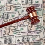 court -- lawsuit, gavel, money