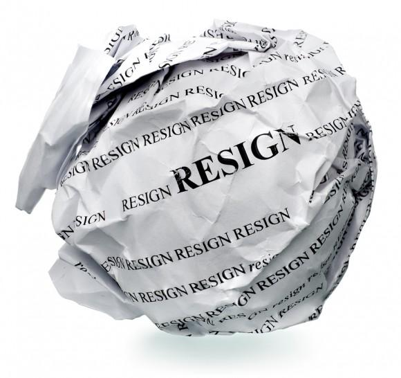 resignation quit