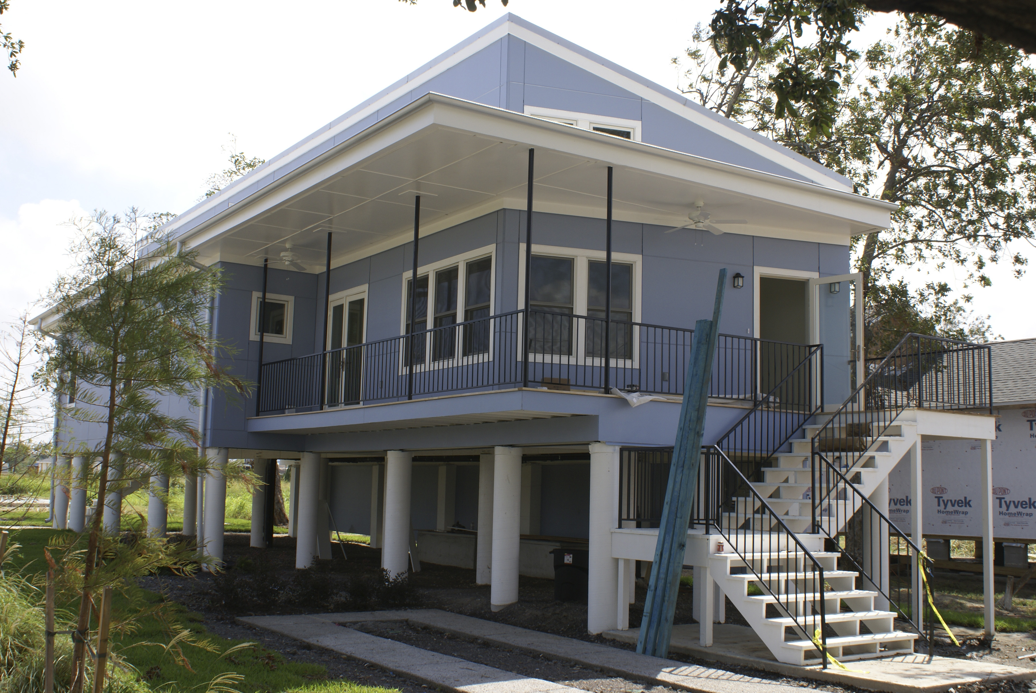 Rotting wood product in post katrina built homes may spark for Katrina home