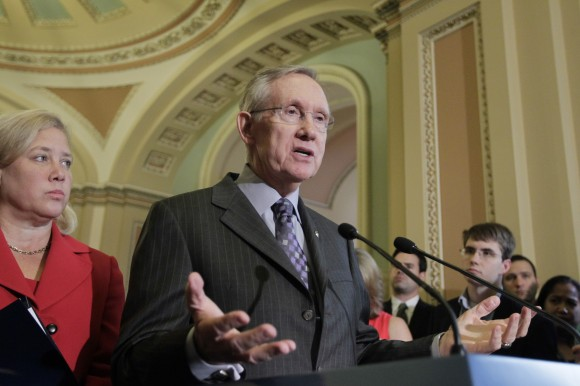 Majority Leader Harry Reid, Sen. Mary Landrieu AP Photo