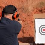 shooting range gun target