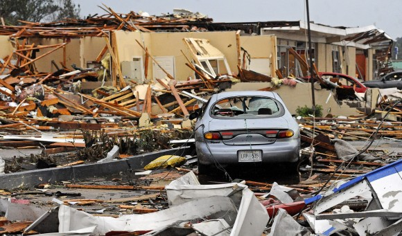 Tupelo, Mississippi Hit by Tornado AP Photo