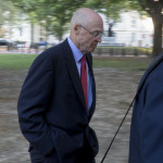 Hank Paulson arrives at the U.S. Court of Federal Claims in Washington, D.C. Photographer: Andrew Harrer/Bloomberg