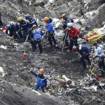 Site of Germanwings plane crash in French Alps. (AP Photo/Laurent Cipriani)