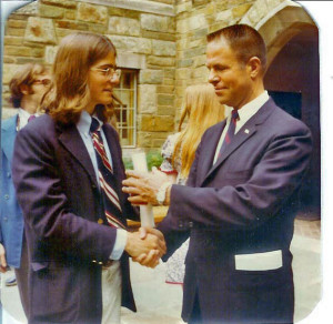 Young Hank Haldeman with his father, H.R. Haldeman