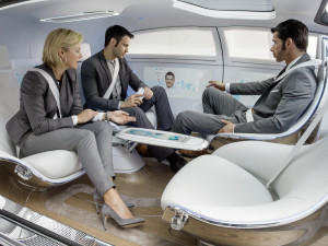 Mercedes-Benz autonomous car F 015 interior