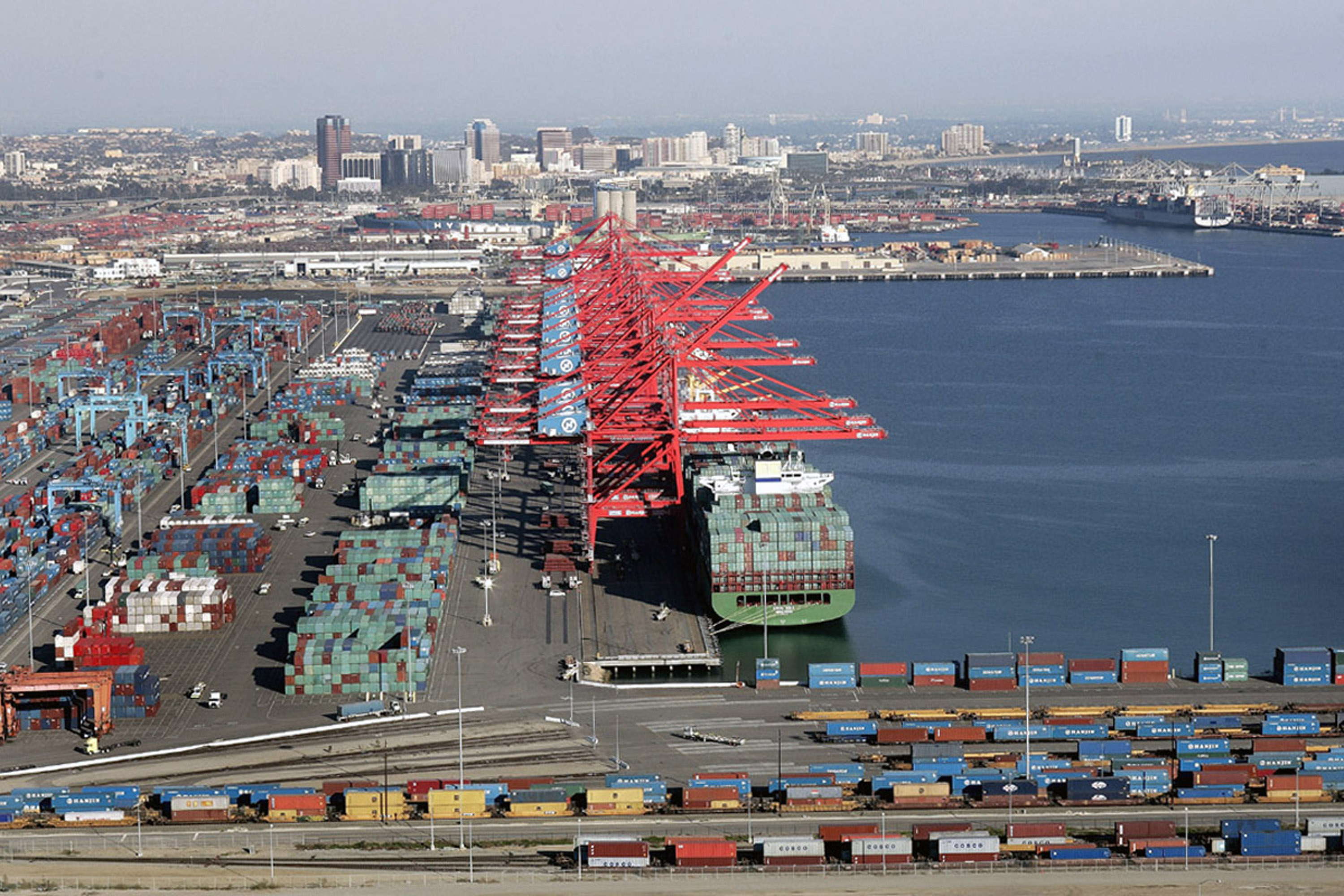 News Insurance Truckers At Major California Port Strike Over Wages