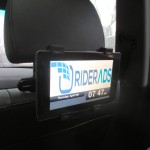 RiderAds, a startup in Boston, is charging advertisers $10 to $25 per 1,000 impressions for video ads placed in the vehicles of rideshare drivers.