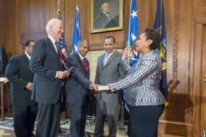 Attorney General Loretta Lynch at swearing-in ceremony.