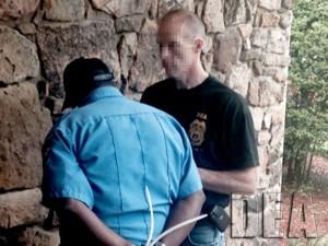 Operation Pilluted arrest in Little Rock, Arkansas (DEA photo)