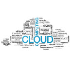 High resolution graphic of a cloud computing on white background
