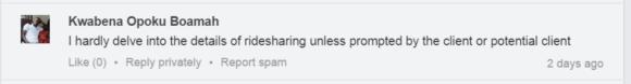 LinkedIn Group screenshot Kwabena