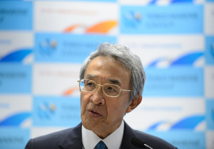 Tsuyoshi Nagano, president of Tokio Marine Holdings Inc., speaks during a news conference in Tokyo, Japan, on Wednesday, June 10, 2015. Tokio Marine agreed to buy HCC Insurance Holdings Inc. for about $7.5 billion in the biggest acquisition by a Japanese insurer, stepping up an overseas expansion to counter stagnation at home. (Photographer: Akio Kon/Bloomberg )