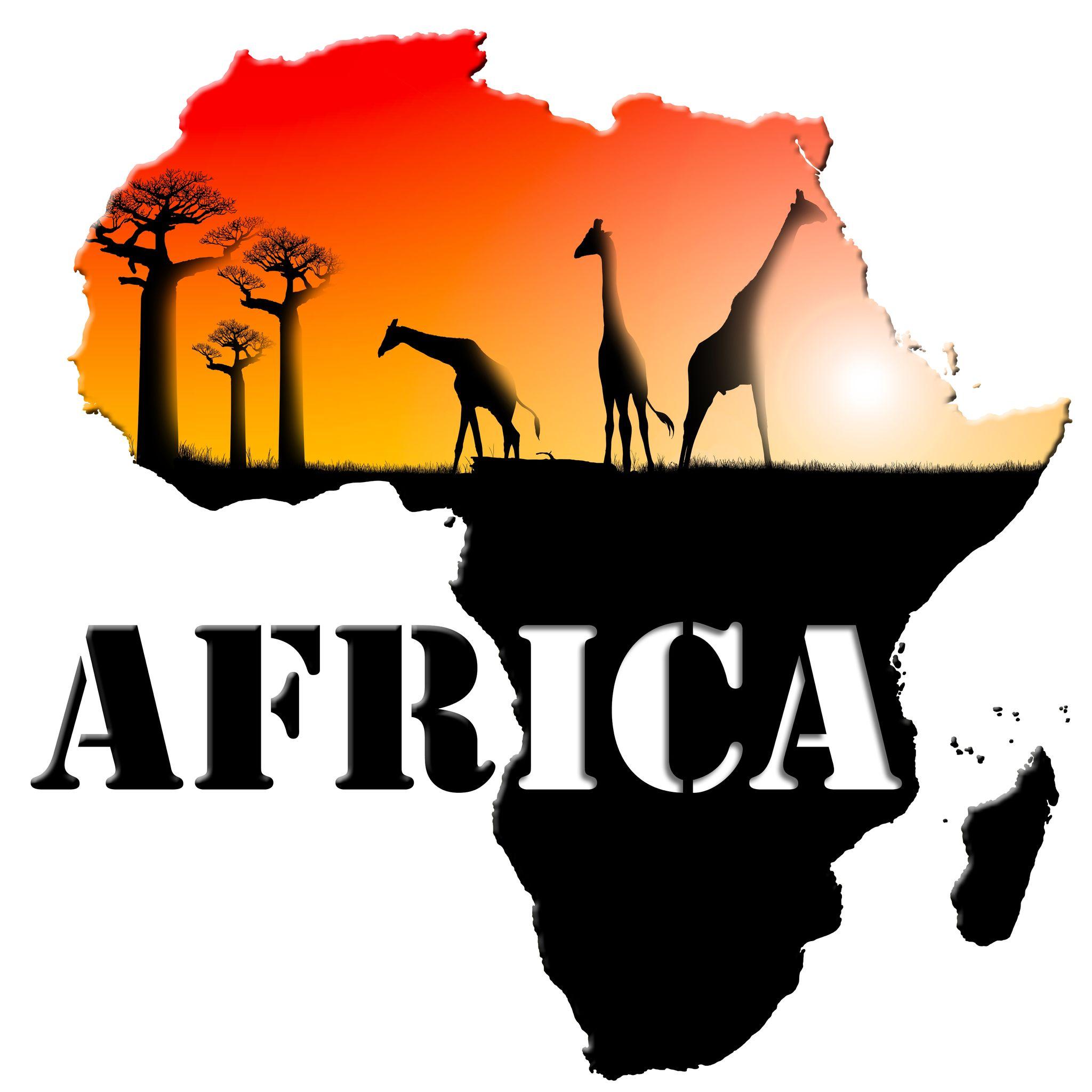 Картинка с надписью африка, для