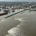 New Orleans, LA--Aerial views of damage caused from Hurricane Katrina the day after the  hurricane hit August 30, 2005.  This is one of the levee's that has been damaged by the hurricane.  Photo by Jocelyn Augustino/FEMA