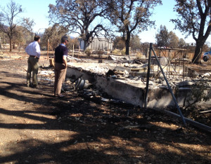 Insurance Commissioner Dave Jones views the destruction of the massive Valley Wildfire in  Northern California in September. Photo by California Department of Insurance