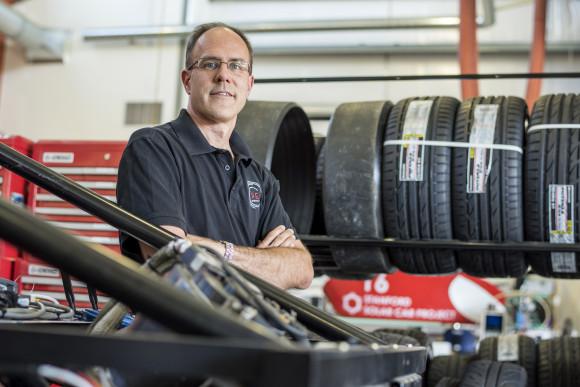 Chris Gerdes, professor of Mechanical Engineering Design Group at Stanford University. Photographer: David Paul Morris/Bloomberg