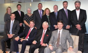 Hotchkiss Insurance Partners, Spring 2015. Front row L-R: Ken Hotchkiss, COO; Mike Hotchkiss, CEO; Doug Hotchkiss, Founder; Greg Hotchkiss, CFO