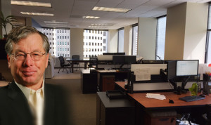 MOC President Van Maroevich started at the firm in 1973. Shown: MOC's cubicles with a view.