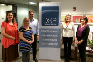 DSP Management Team: Laura Wywial, Personal Lines Manager; Nancy Zorica, Accounting Manager; Bobby Schutz, VP Marketing; Ginger Imes, VP Commercial Division; Carol Dougherty, Surety Manager.