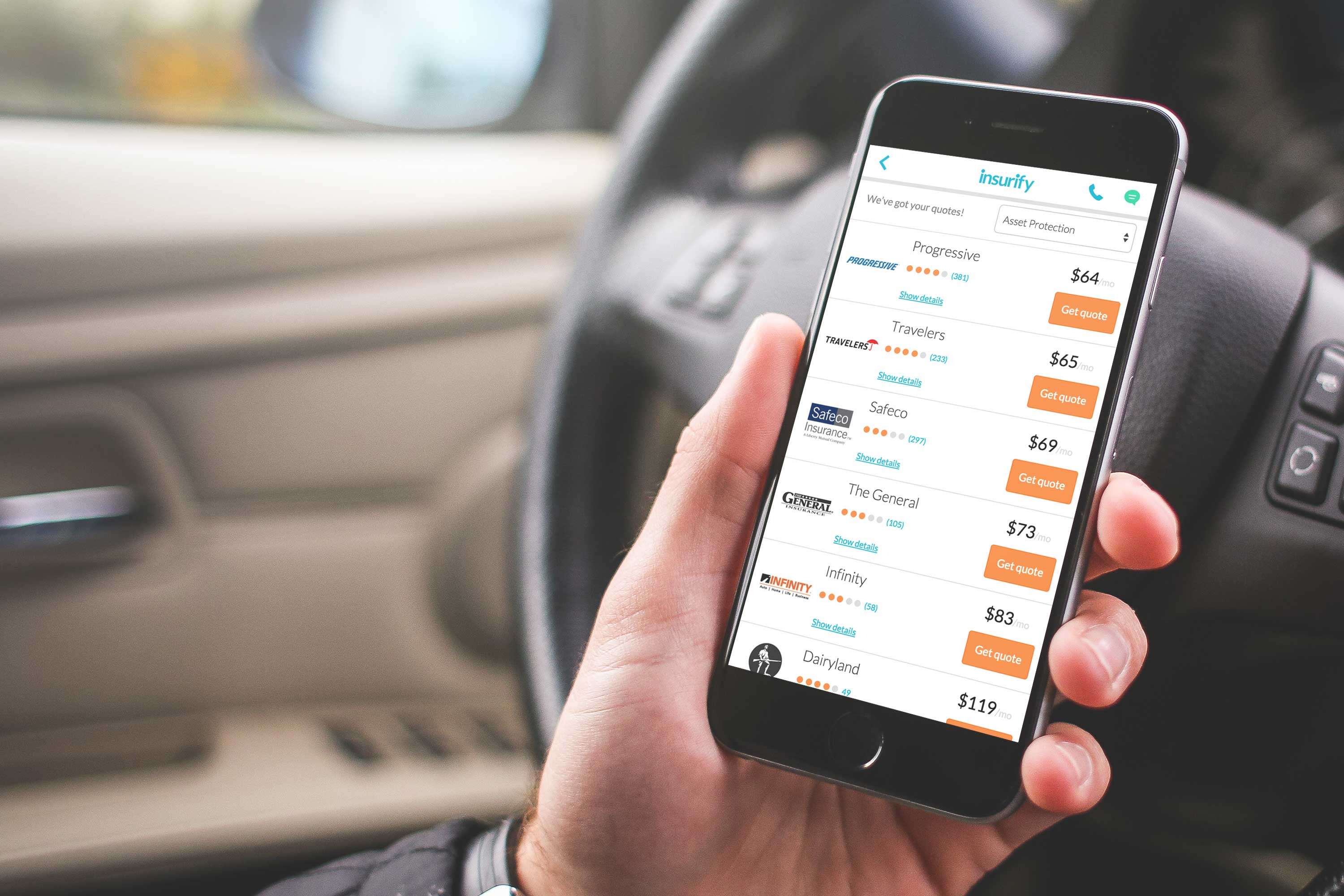 Virtual Insurance Agent Insurify With License Plate Quote Feature