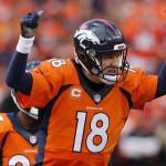 Denver Broncos Quarterback Peyton Manning   (Ric Tapia via AP)