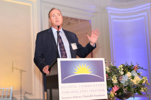 Farmers Insurance CEO Jeff Dailey remembered the Joplin, Mo. tornado while receiving the the Insurance Industry Charitable Foundation's Golden Horizon Award at the organization's annual Horizon Award Gala on March 16 at the Alexandria Hotel in downtown Los Angeles, Calif.
