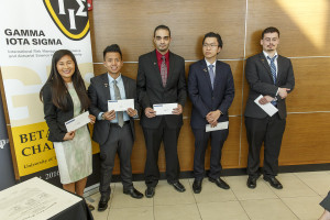 ICT scholarship recipients, l-r:Thu Nguyen, Hieu Huynh, Mohammed Ahmad, Nate Pham and Nathaniel Bjorge