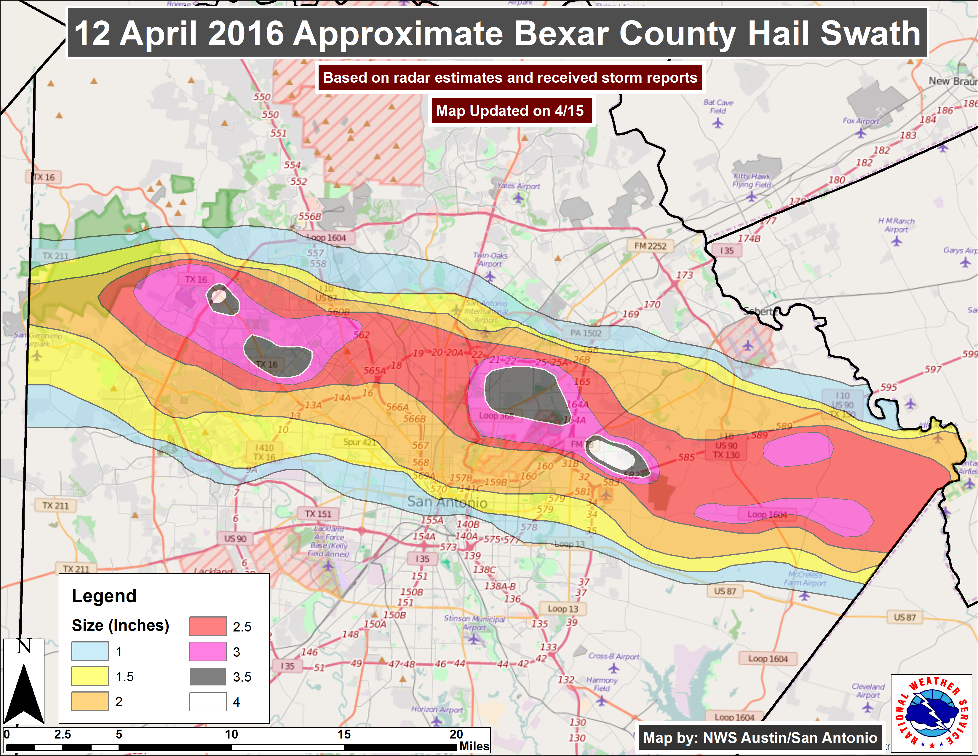 Texas Tornado Damage Map CoreLogic Pegs Total Damage from Texas Spring Hail Storms at