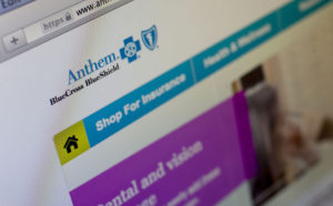 The Anthem Inc. website is arranged for a photograph in Washington, D.C., U.S., on Thursday, Feb. 5, 2015. Anthem Inc., the second biggest U.S. health insurer by market value, said hackers obtained data on tens of millions of current and former customers and employees in a sophisticated attack that has led to a Federal Bureau of Investigation probe. Photographer: Andrew Harrer/Bloomberg