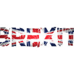 Brexit Text Isolated. Brexit cracks Text Isolated. United Kingdom exit from europe relative image. Brexit named politic process. Referendum theme art