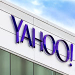 SUNNYVALE CA/USA - MARCH 1 2014: Yahoo Corporate Headquarters Sign. Yahoo is an American multinational Internet corporation globally known for its Web portal search engine Yahoo Search and related services