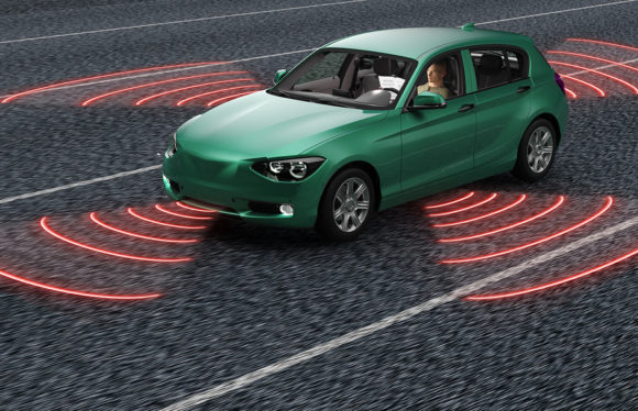 Autonomous car driverless self drivingter Car On Road