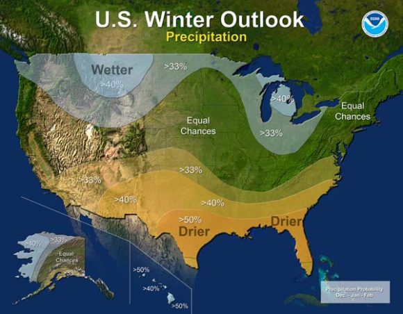NOAA Winter Outlook 2016