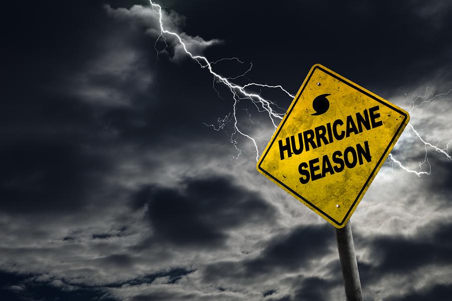 Hurricane Season sign.