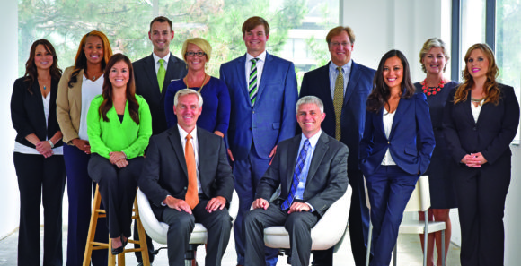 Kapnick client advocates and executive team members with CEO Jim Kapnick (front left) and President/COO Mike Kapnick (front right)