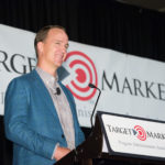 Peyton Manning addresses members of the Target Markets Program Administrators Association at the Westin Kierland in Scottsdale, Ariz., on Oct. 18. Manning discussed what it takes to be a leader in a competitive environment.
