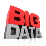 big data 3d illustration on white  background