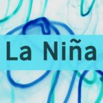 Inscription La Nina. Long exposure lights on the background.