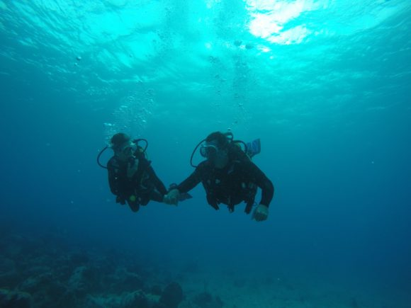 Getting couples reconnected is the main mission of Operation Healing Forces. One activity the couples may do together is Scuba diving.
