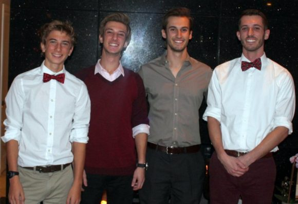 Marshall Cotta with his three brothers (left to right: Landis, Marshall, Brendan and Jared Cotta)