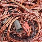 Many different varieties of copper scrap for recycling
